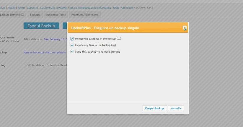 come fare il backup di un sito wordpress figura 5