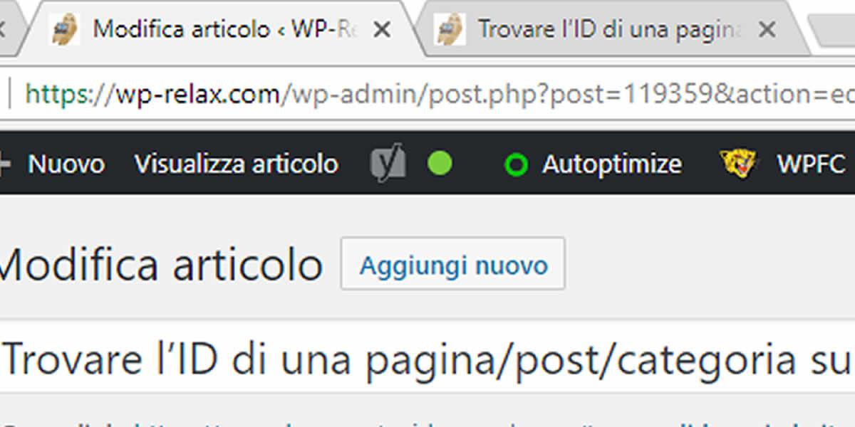 Trovare l'ID di una pagina/post/categoria sul tuo sito WordPress