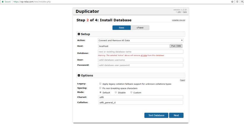 creare un clone del tuo sito wordpress figura 7